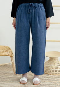 Audra Relax Pants (Grid Blue)