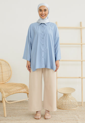 Auliaa Baggy Top (Earth Blue)