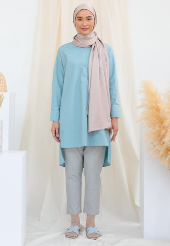 Aisy Long Top (Dusty Teal)