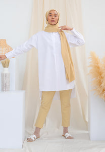 Aisy Long Top (White)