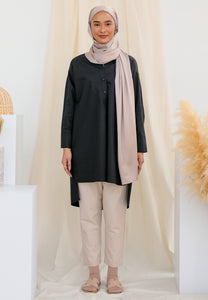 Aisy Long Top (Black)