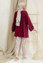 Load image into Gallery viewer, Shurah Baggy Top (Maroon)