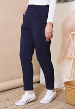 Load image into Gallery viewer, Sawda Tapered Pants (Navy Blue)