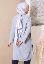Load image into Gallery viewer, Mahdia Linen Top (Light Grey)
