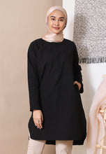 Load image into Gallery viewer, Mahdia Linen Top (Black)