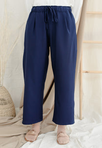 Lubna Relax Pants (Navy Blue)