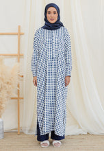 Load image into Gallery viewer, Eimaan Casual Kaftan (Square Dark Blue)