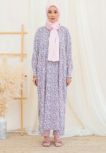 Eimaan Casual Kaftan (Abstract Pastel Rose)