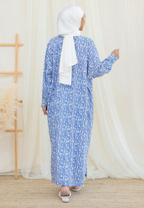 Eimaan Casual Kaftan (Abstract Blue)