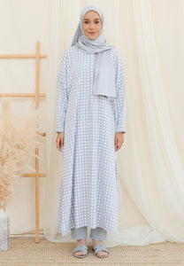 Eimaan Casual Kaftan (Square Pastel Blue)