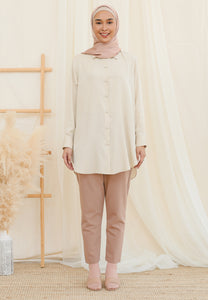 Afrin Linen Top (Cream)