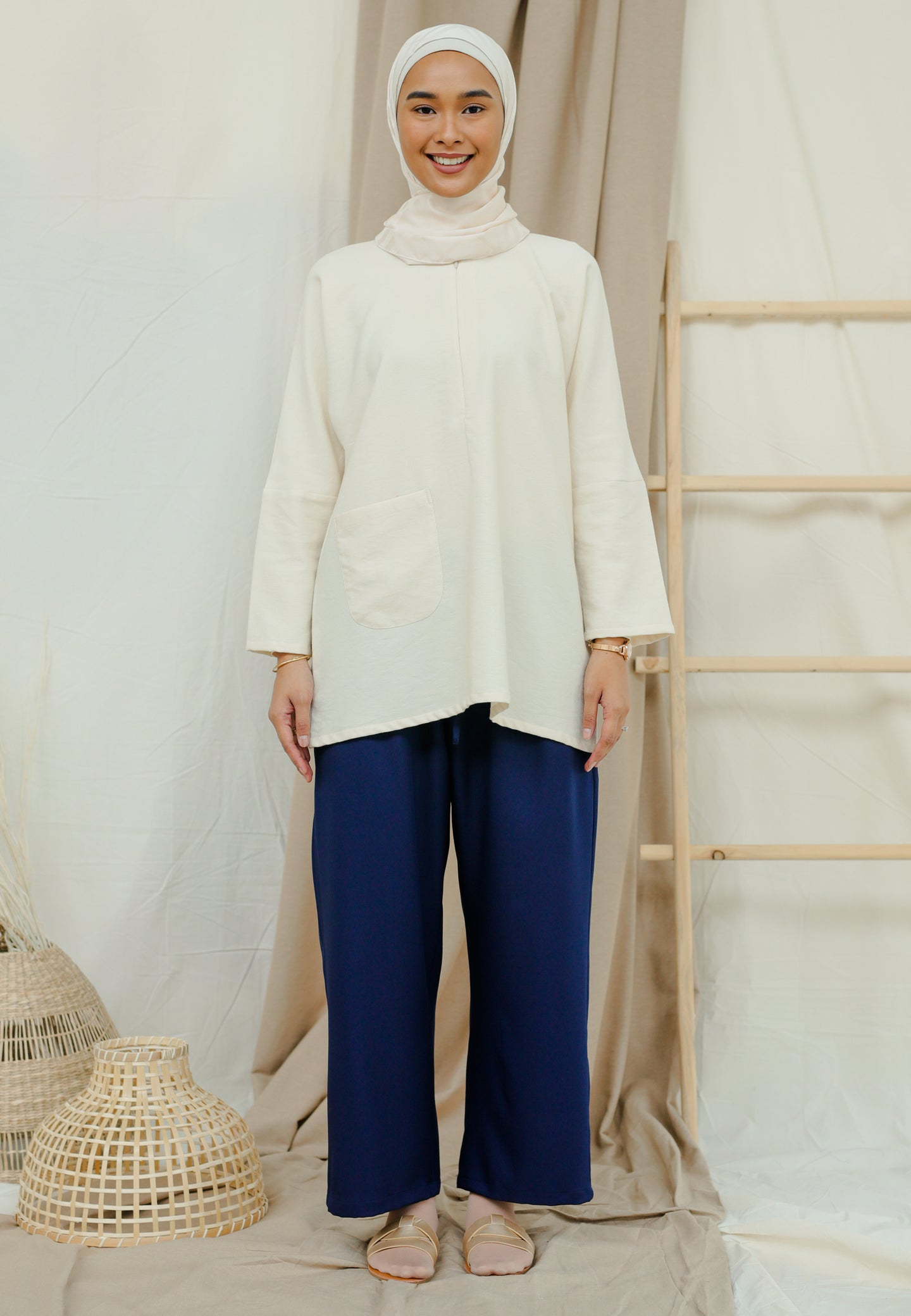 Mirha Plain Top (Cream)