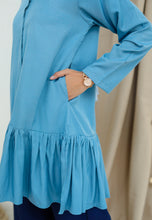 Load image into Gallery viewer, Lunaa Ruffle Top (Ash Blue)