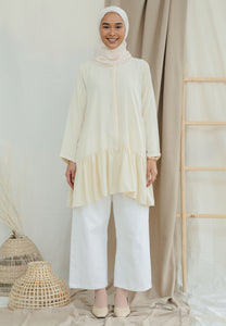 Lunaa Ruffle Top (Cream)