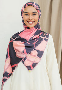 Haura Abstract Shawl (Dark Purple)