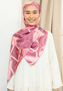Haura Abstract Shawl (Rose Wood)