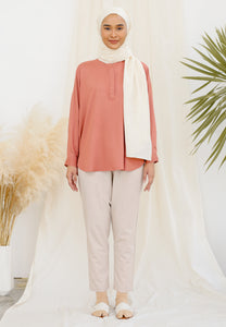 Aleesa Plain Top (Salmon)