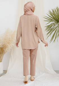 Aleesa Plain Top (Nude Brown)
