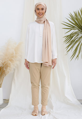 Aleesa Plain Top (Cream)