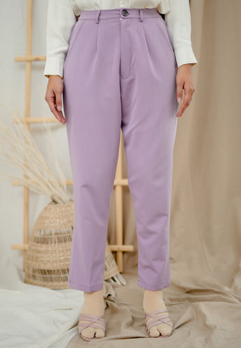 Sawda Tapered Pants (Lavender)