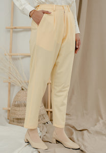 Sawda Tapered Pants (Pastel Yellow)