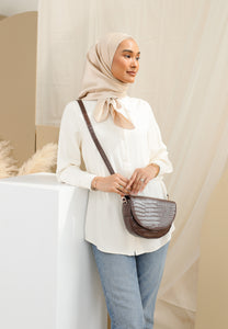 Diana Saddle Bag (Dark Brown)