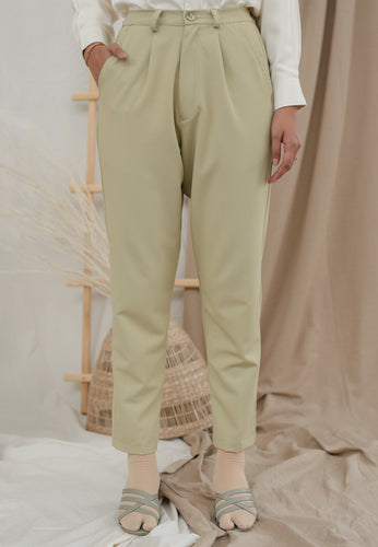 Sawda Tapered Pants (Pastel Green)