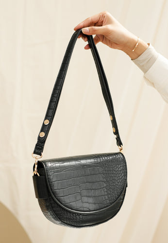 Diana Saddle Bag (Black)
