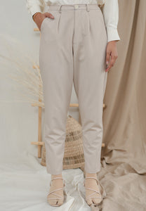 Sawda Tapered Pants (Ivory)