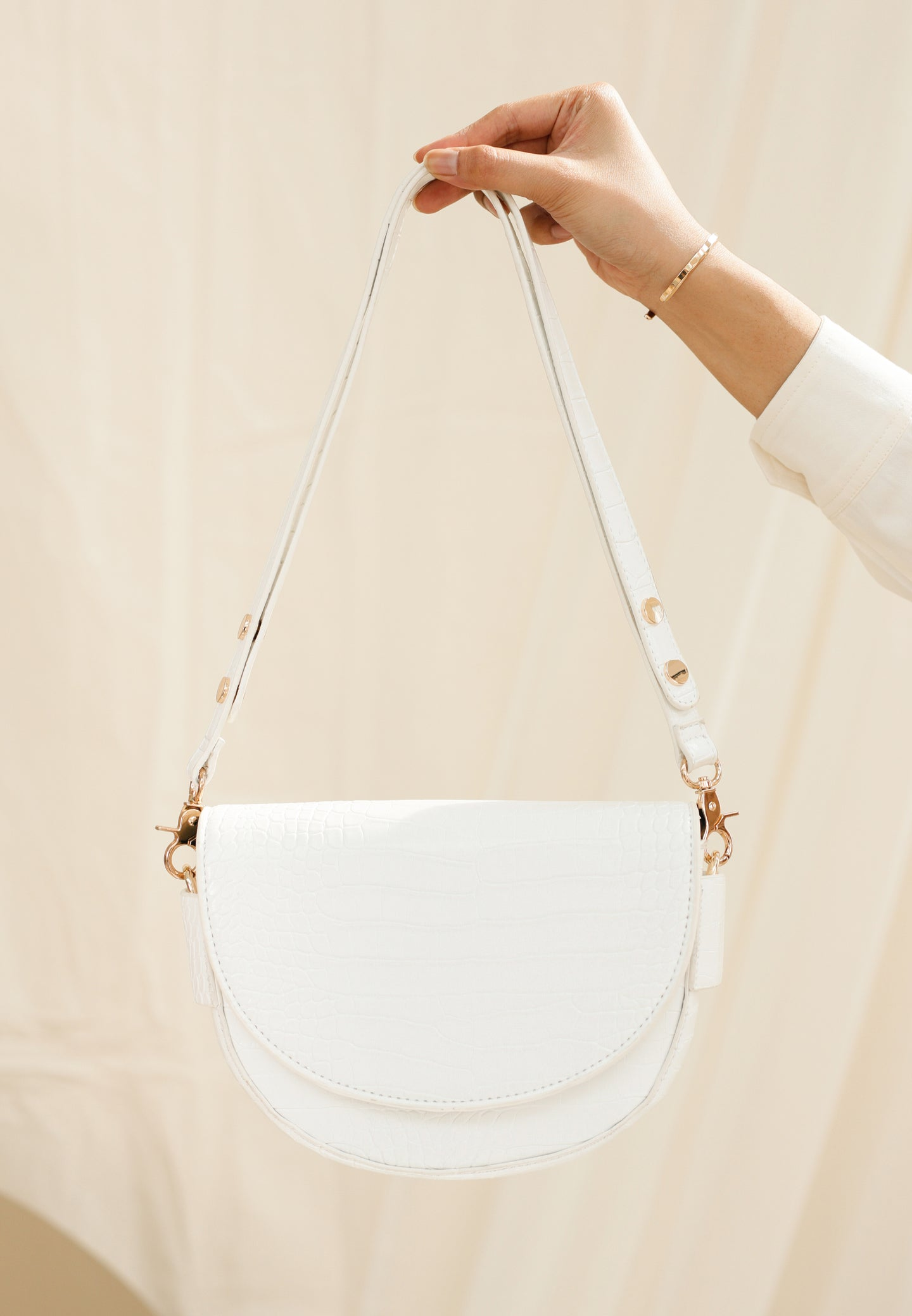 Diana Saddle Bag (White)