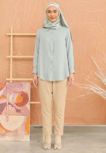 Tahiraa Basic Top (Dusty Teal)