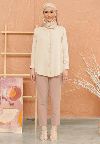 Tahiraa Basic Top (Nude Brown)