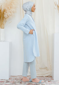 Mahdia Linen Top (Soft Blue)