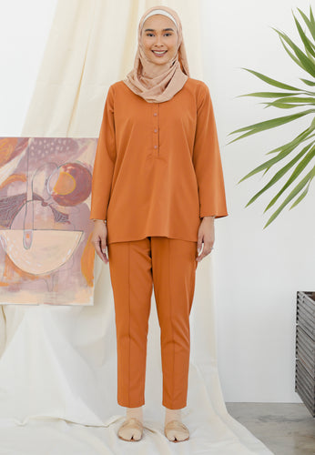 Hanaa Casual Tapered Set (Caramel)