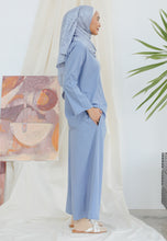 Load image into Gallery viewer, Hanaa Casual Palazzo Set (Earth Blue)