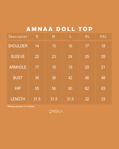 Amnaa Doll Top (Dusty Blue)