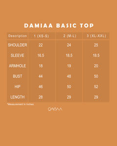 Damiaa Basic Top (Dark Blue)