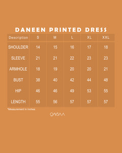 Daneen Printed Dress (Pastel Blue)