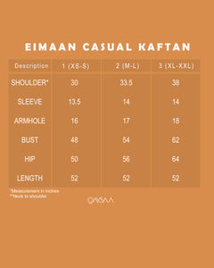 Eimaan Casual Kaftan (Square Dark Blue)