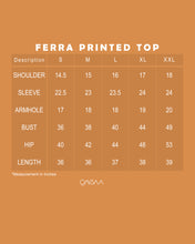 Load image into Gallery viewer, Ferra Printed Top (Dark Brown)