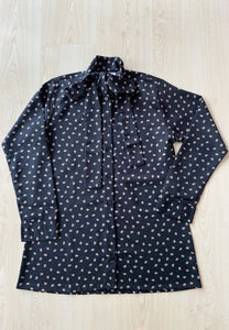 Lateefa Printed Top (Black)