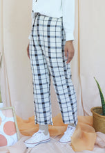 Load image into Gallery viewer, Reesa Checkered Pants (White)