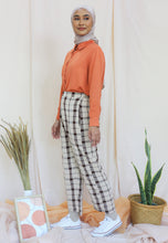 Load image into Gallery viewer, Reesa Checkered Pants (Nude Brown)