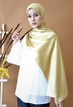 Load image into Gallery viewer, Miska Satin Shawl (Gold)