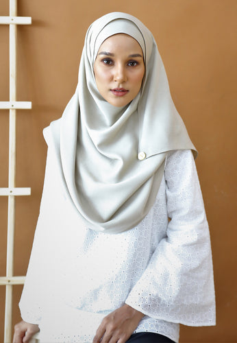 Hasnaa Cotton Shawl (Ash Grey)