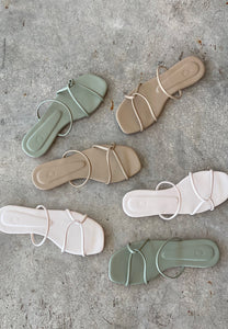 Isla Strap Sandals (Dusty Green)