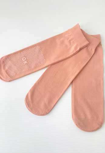 Anti - Slip Socks (Skin color - White Gel)