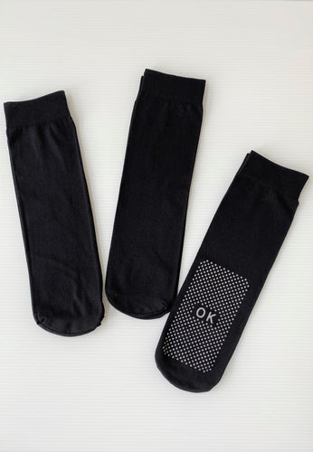 Anti - Slip Socks (All Black)