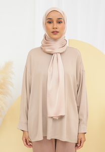 Diinah Baggy Top (Nude Brown)