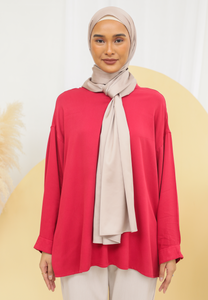 Diinah Baggy Top (Red Rose)